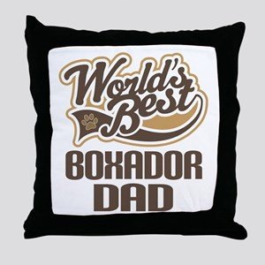 Boxador Dog Dad Throw Pillow